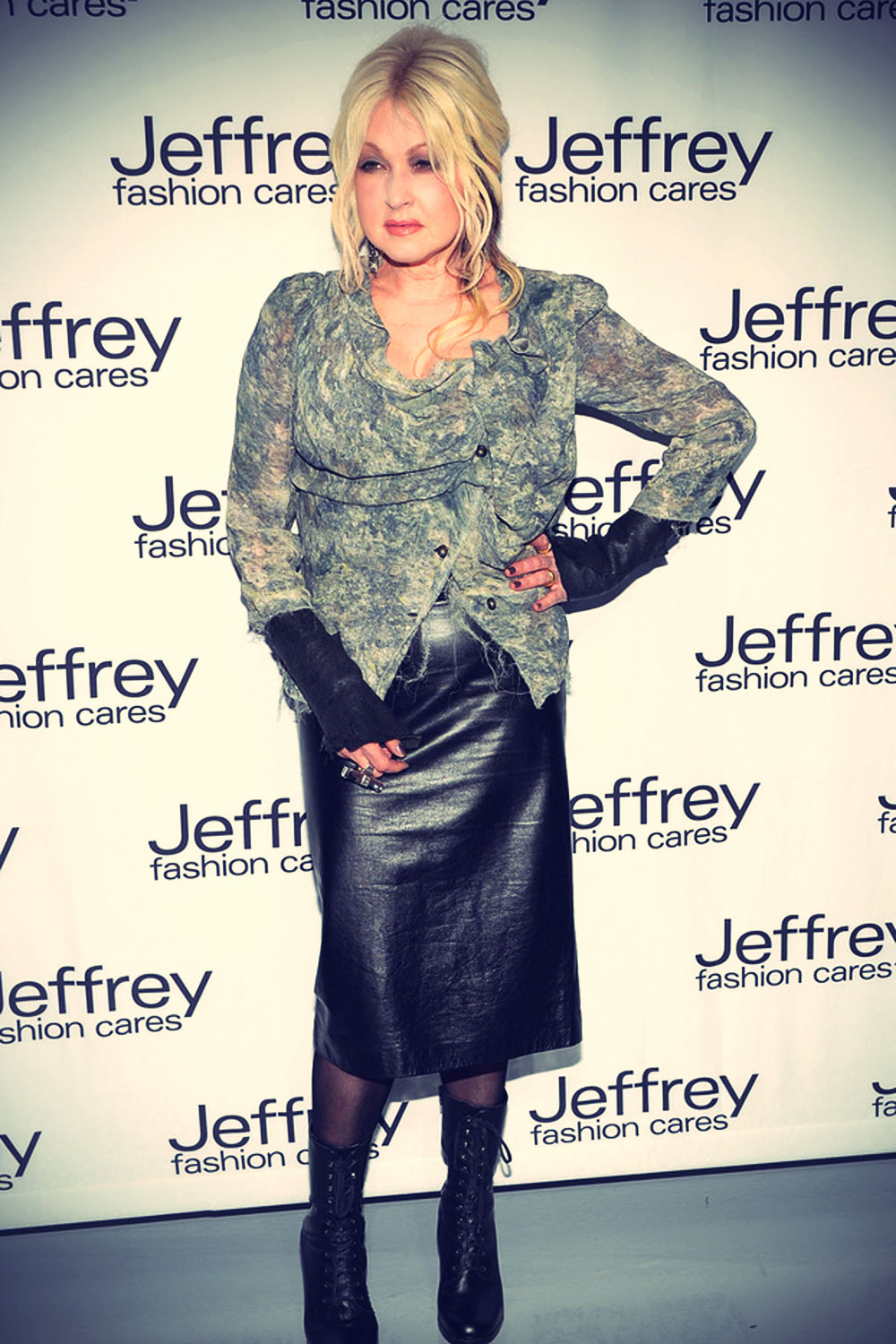 Cyndi Lauper attends the Jeffrey Fashion Cares 10th Anniversary Celebration