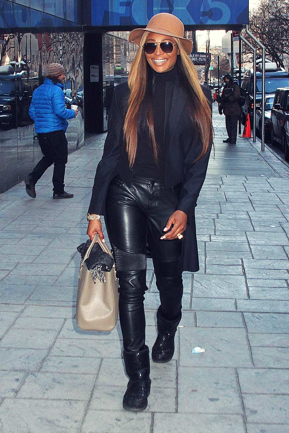 Cynthia Bailey Leaving Good Day New York Leather Celebrities