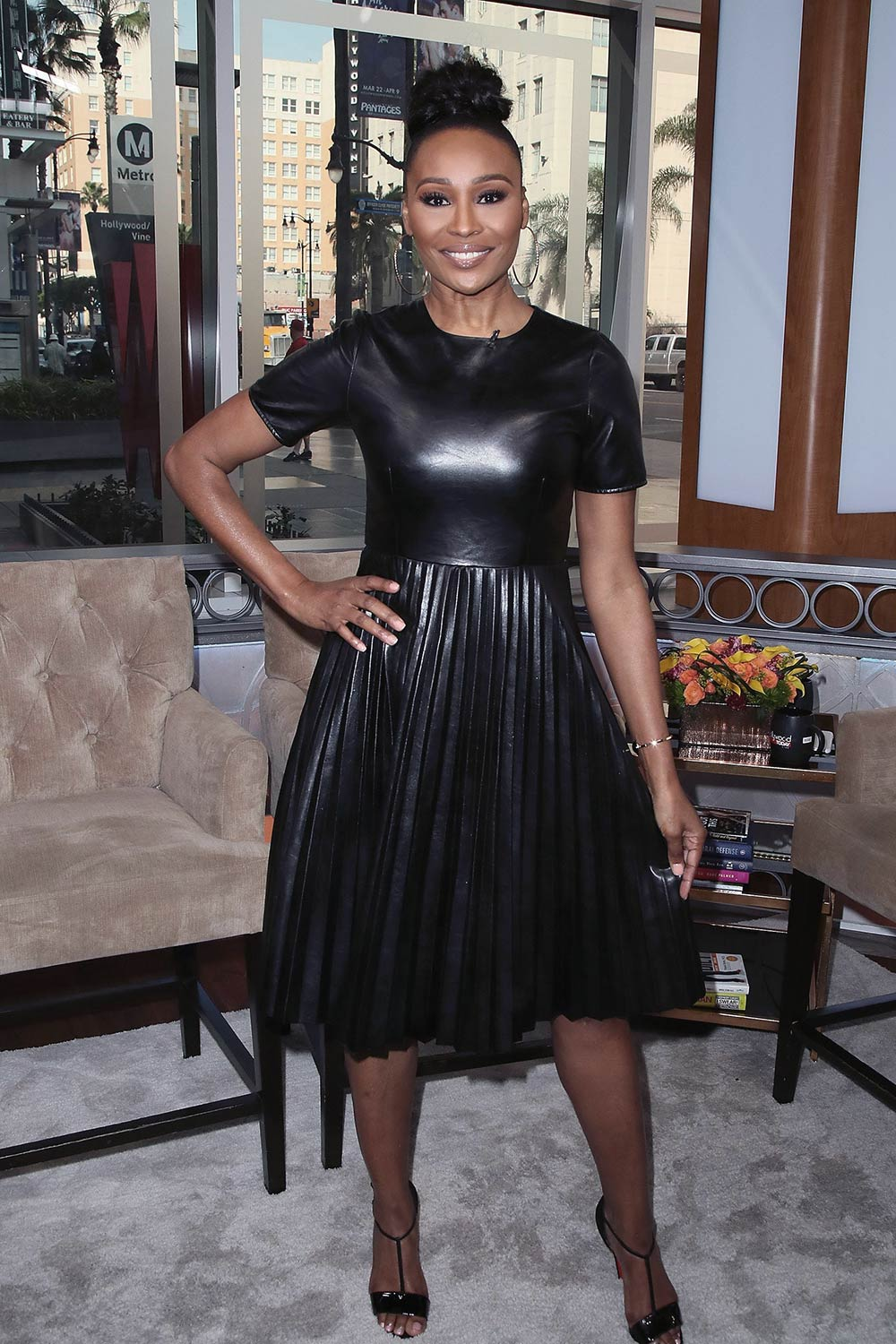 Cynthia Bailey Visits Hollywood Today Live Leather