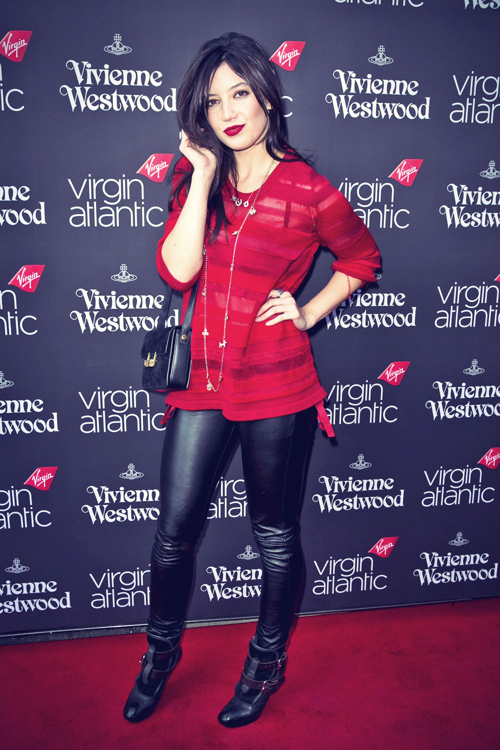 Daisy Lowe at Virgin Atlantic's New Vivienne Westwood Uniform Collection