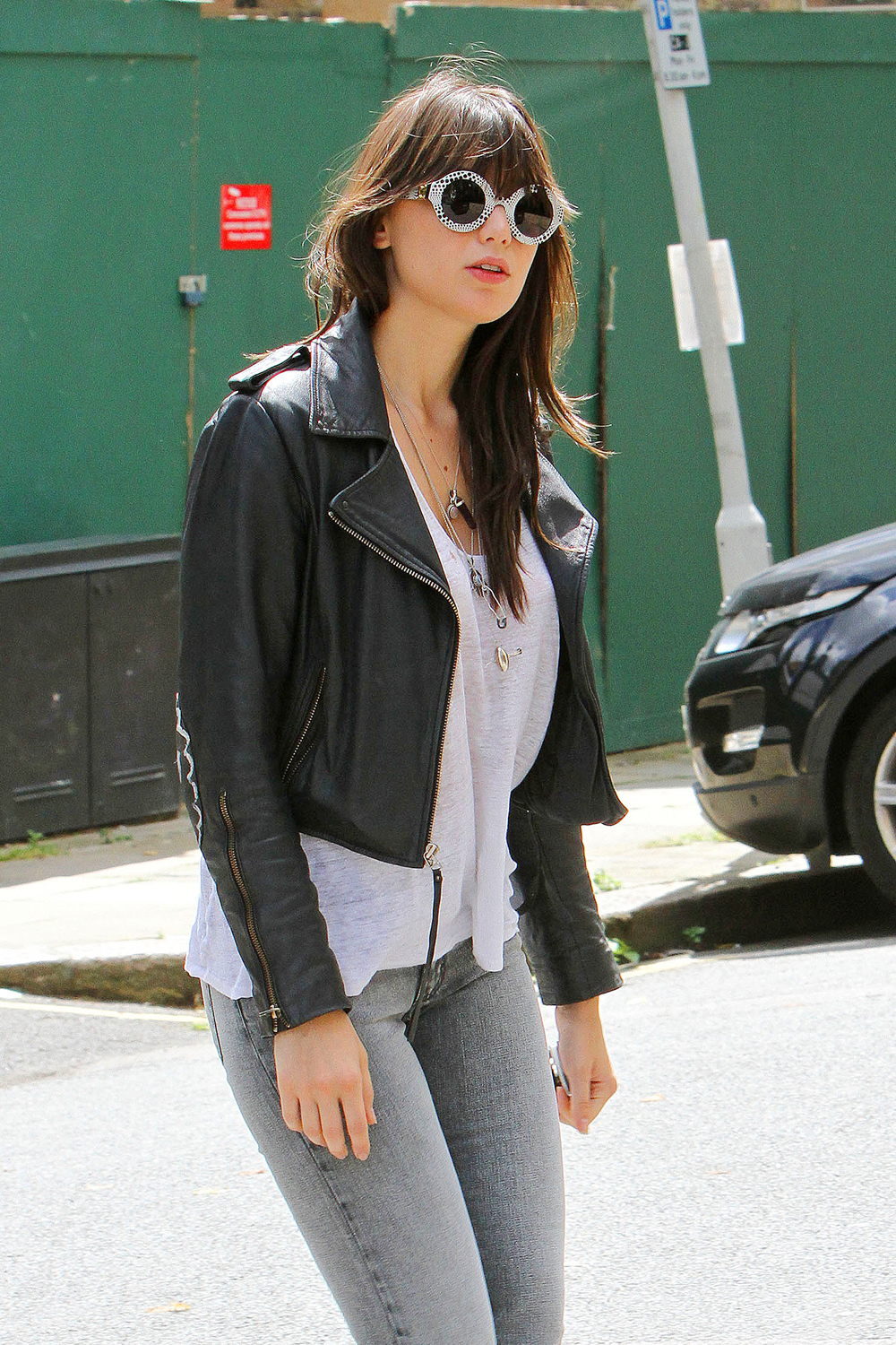 Daisy Lowe out and about near her home in North London 12.7.2012