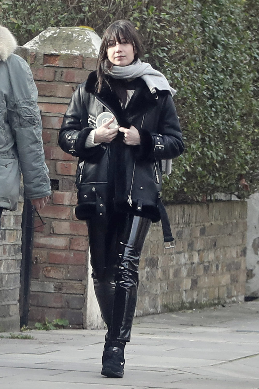 Daisy Lowe out in North London