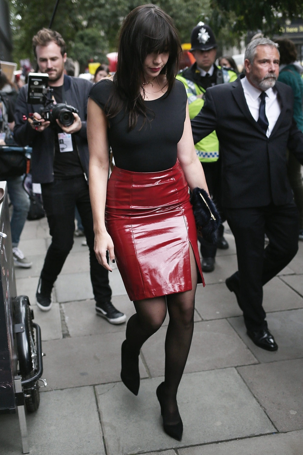 Daisy Lowe spotted leaving the Eudon Choi fashion show