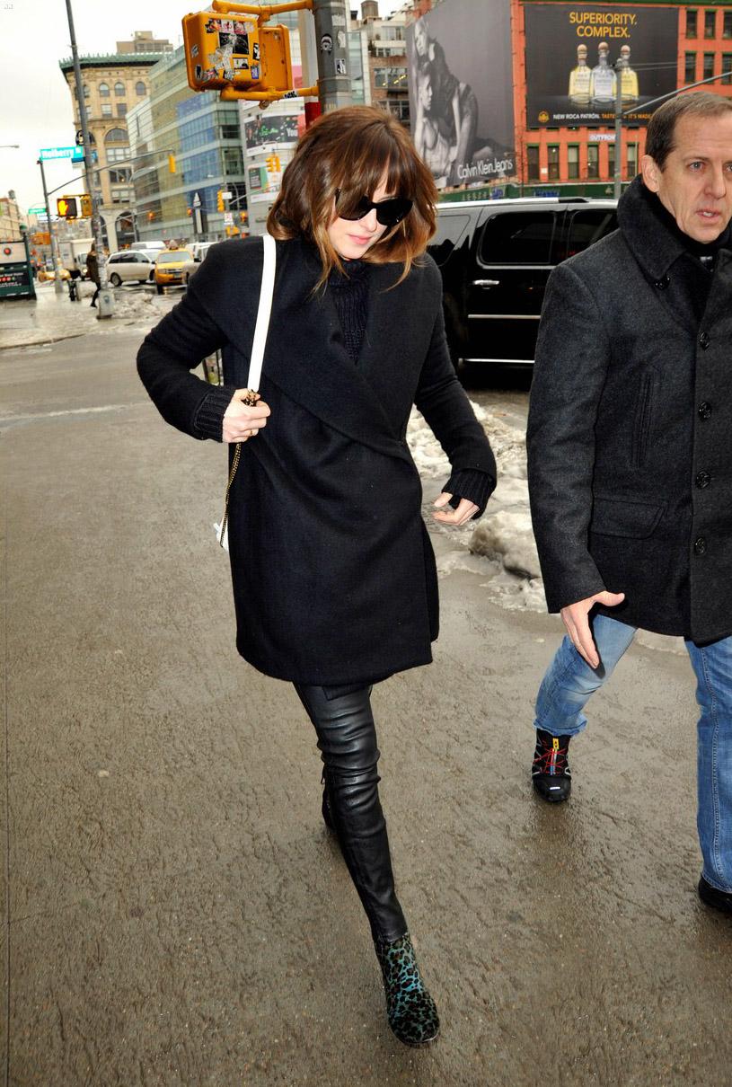 Dakota Johnson was seen walking around Manhattan