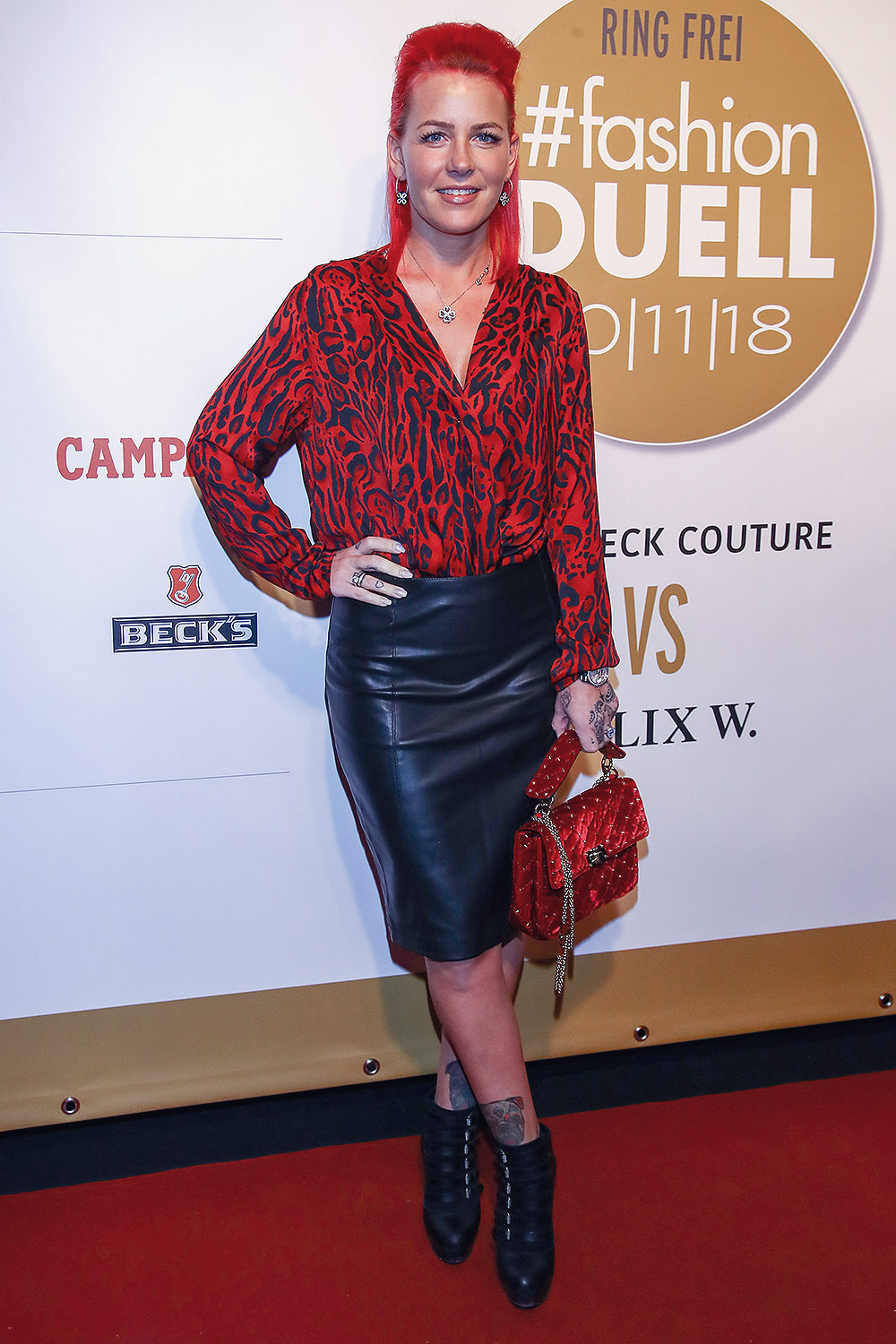 Dana Diekmeier attends Fashion-Duell Ella Deck Couture vs Felix W