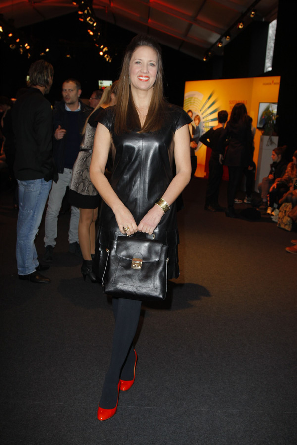 Dana Schweiger at Mercedes Benz Fashion Week
