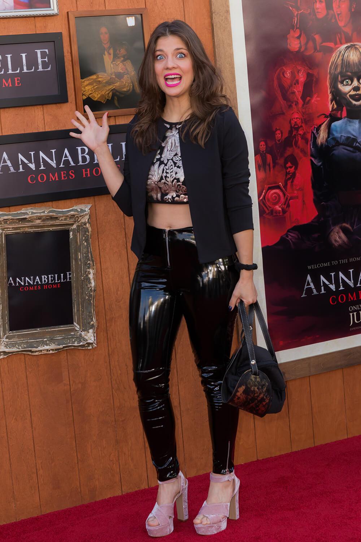 Daniela Aita attends Annabelle Comes Home film premiere