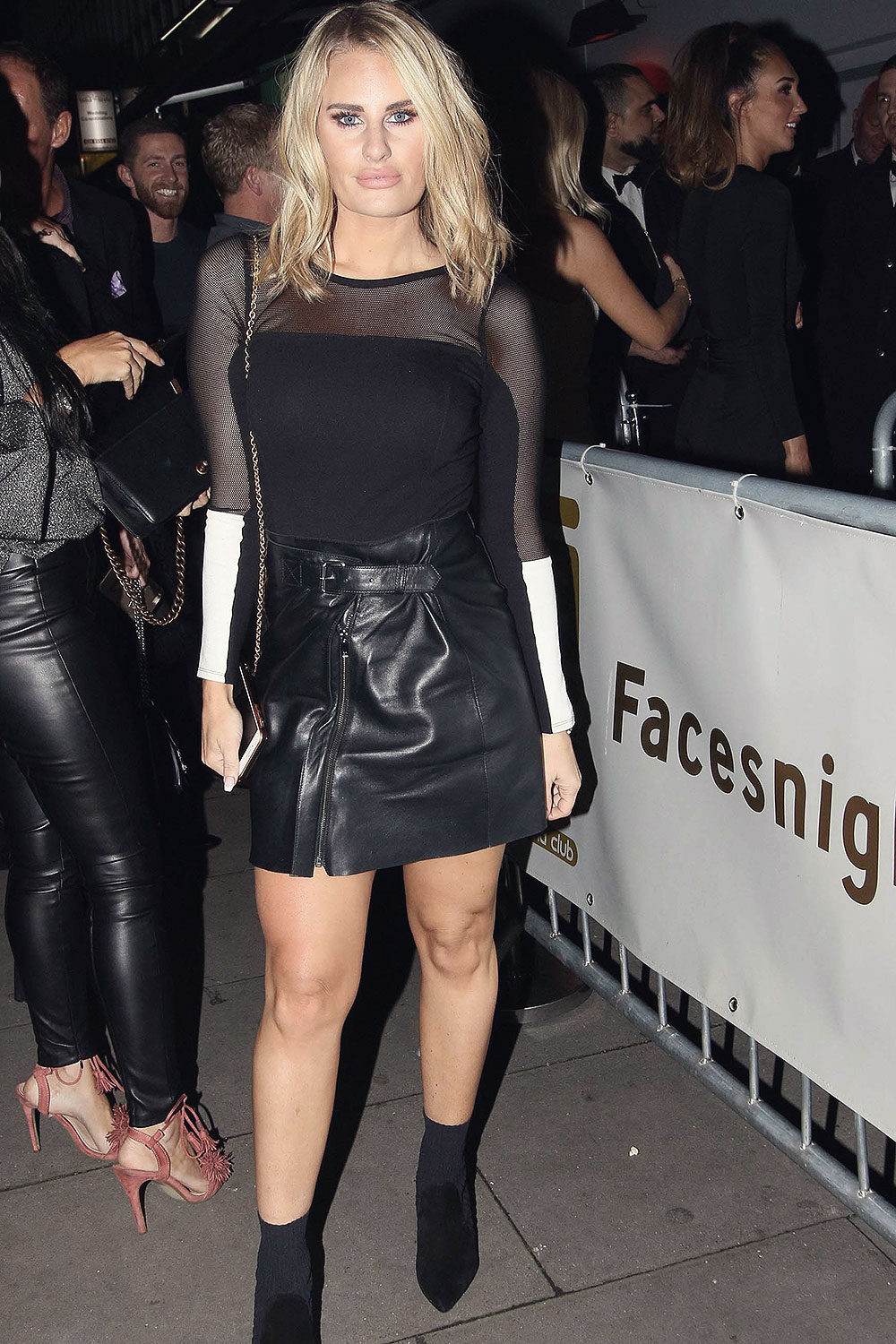 Danielle Armstrong night out at Faces Nightclub