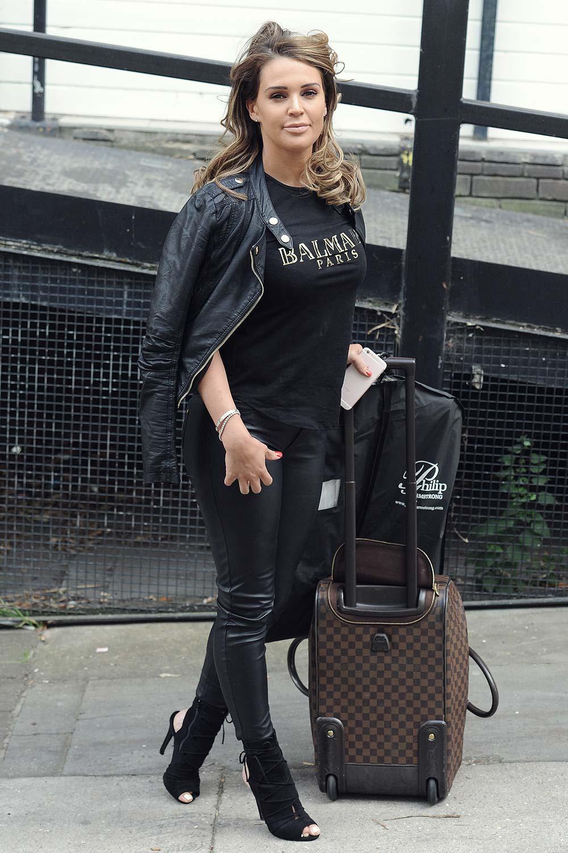 Danielle Lloyd arriving at ITV Studios