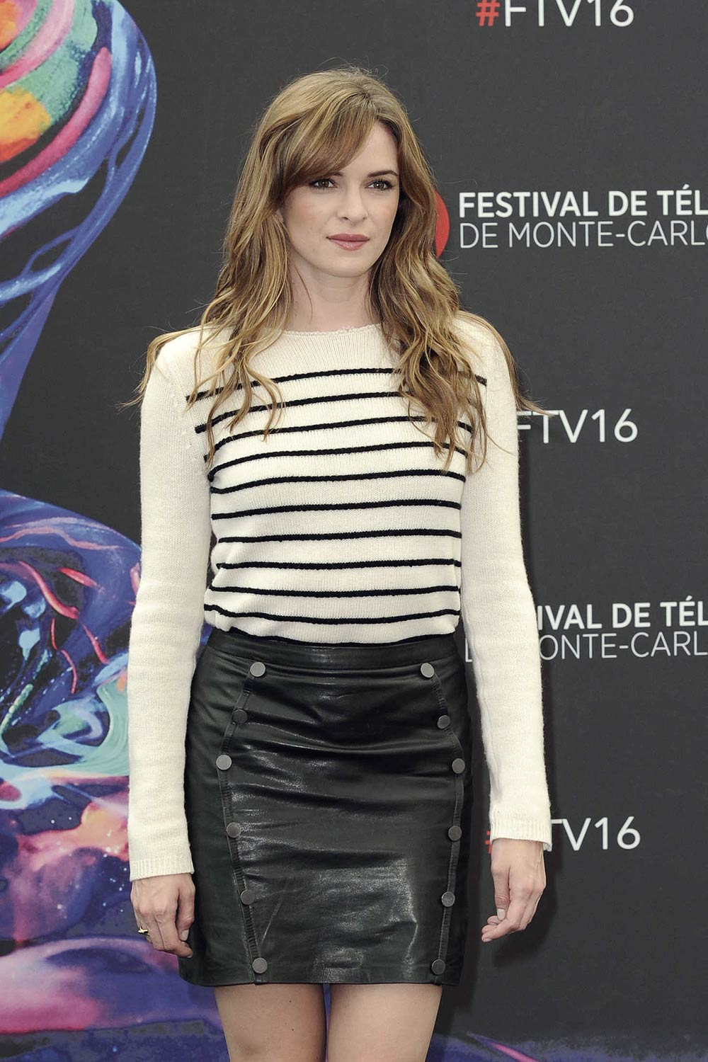 Danielle Panabaker attends The Flash Photocall