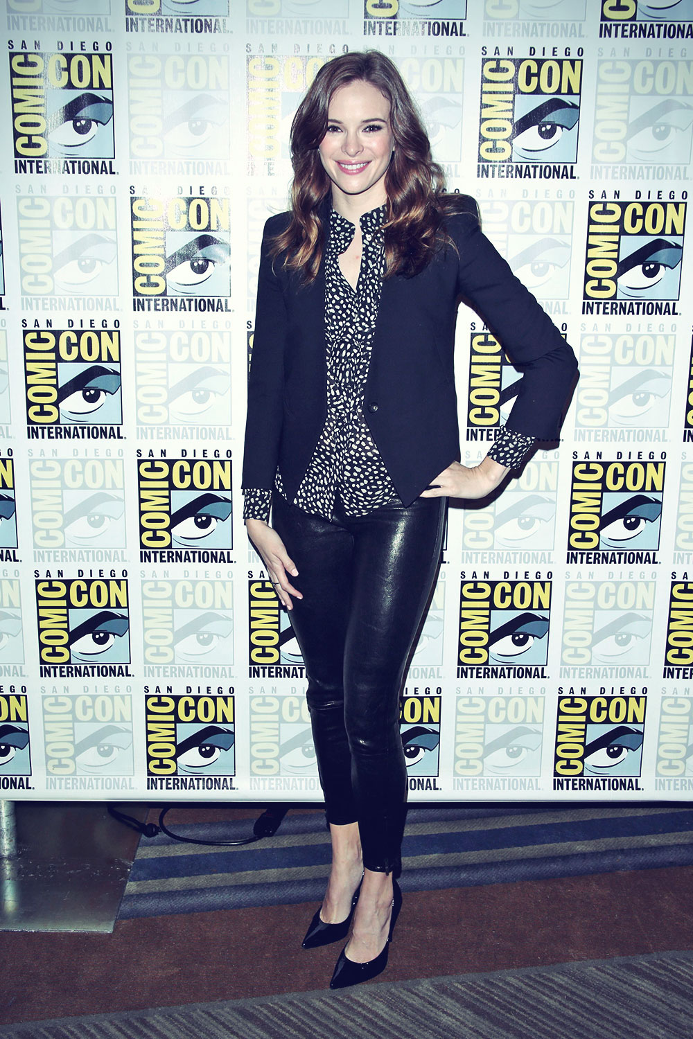 Danielle Panabaker Attends The Flash Press Line During