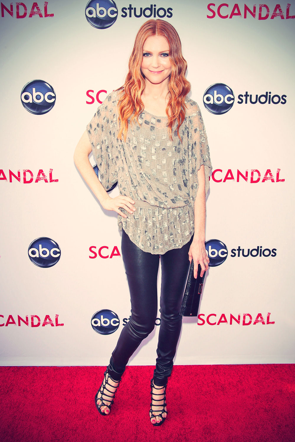 Darby Stanchfield at the Season 2 finale screening of Scandal
