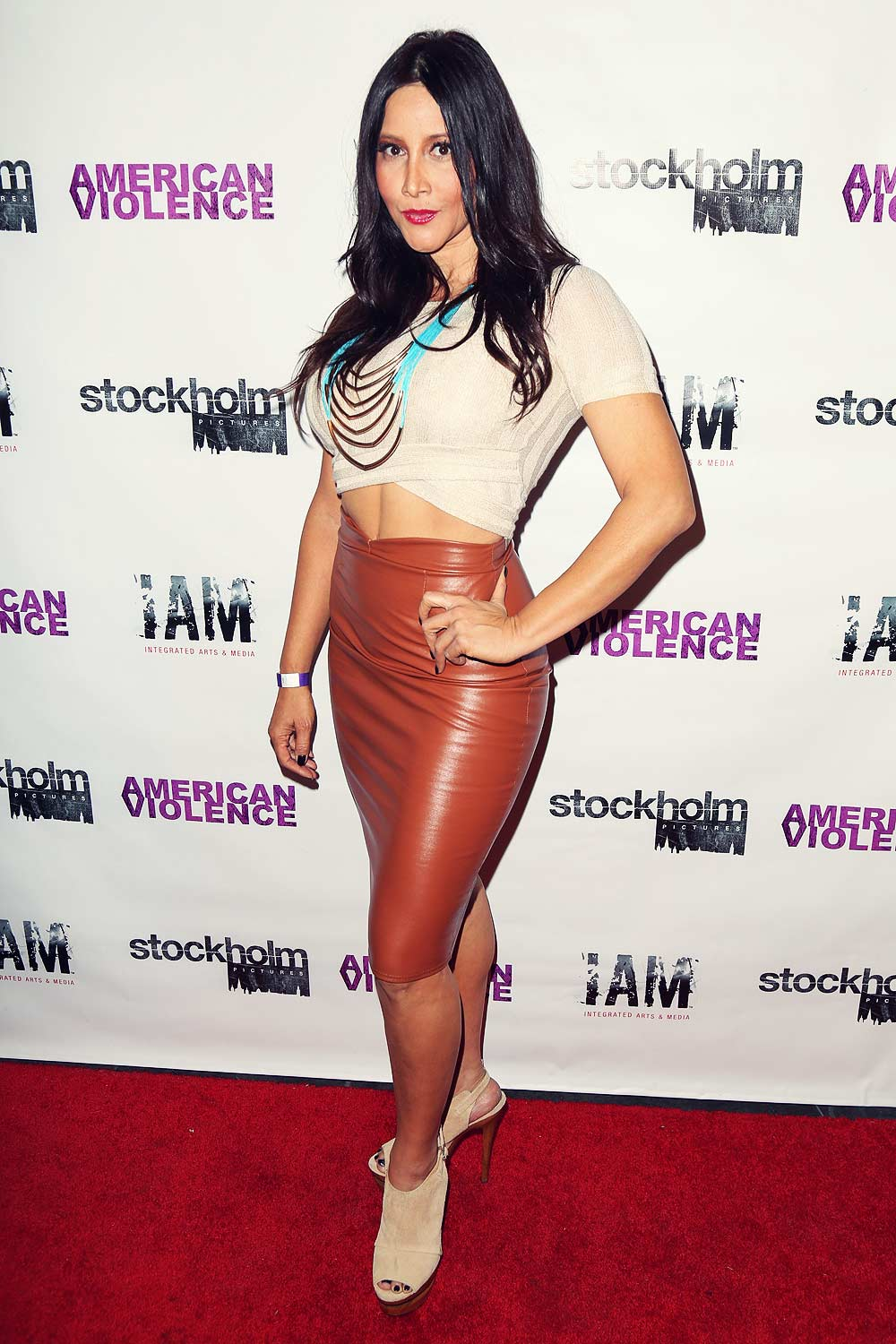 Deana Molle attends American Violence Los Angeles Premiere