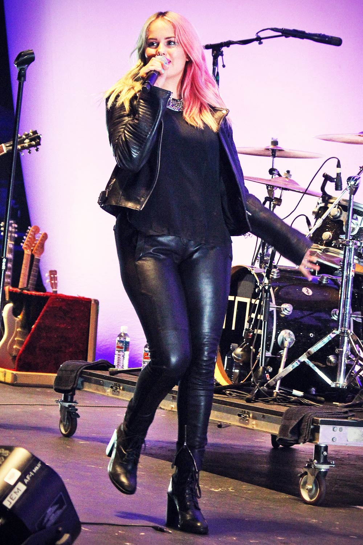 Debby Ryan Performance At The Orange County Fair Leather