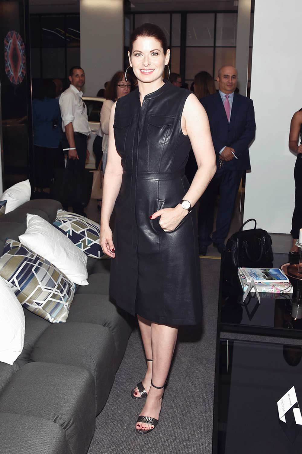 Debra Messing attends grand opening of Cadillac House