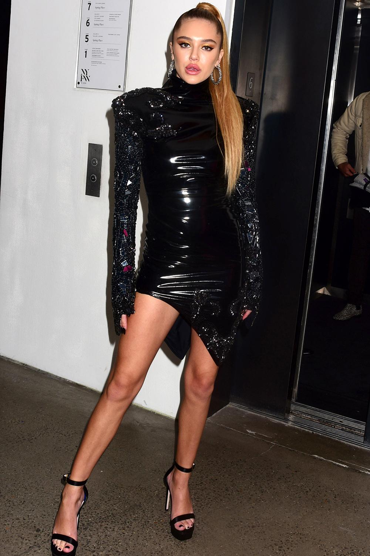 Delilah Belle Hamlin seen at the Blonds fashion show
