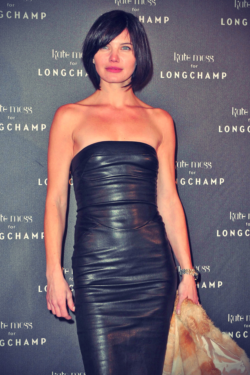Delphine Chaneac leather mix - Leather Celebrities