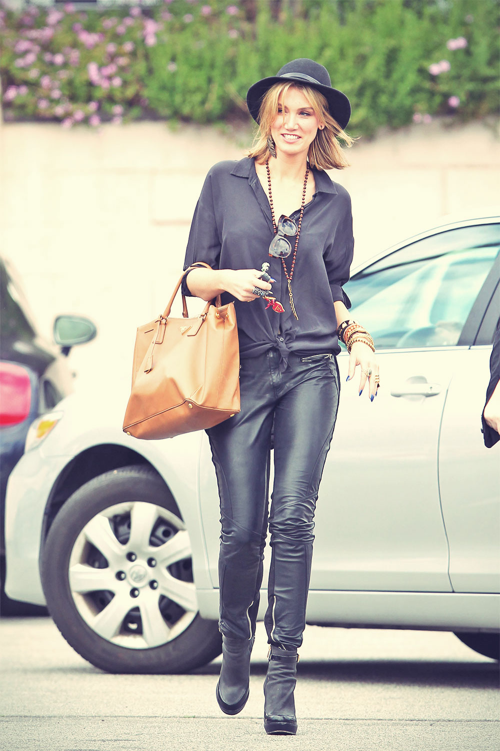 Delta Goodrem stops for coffee in Santa Monica