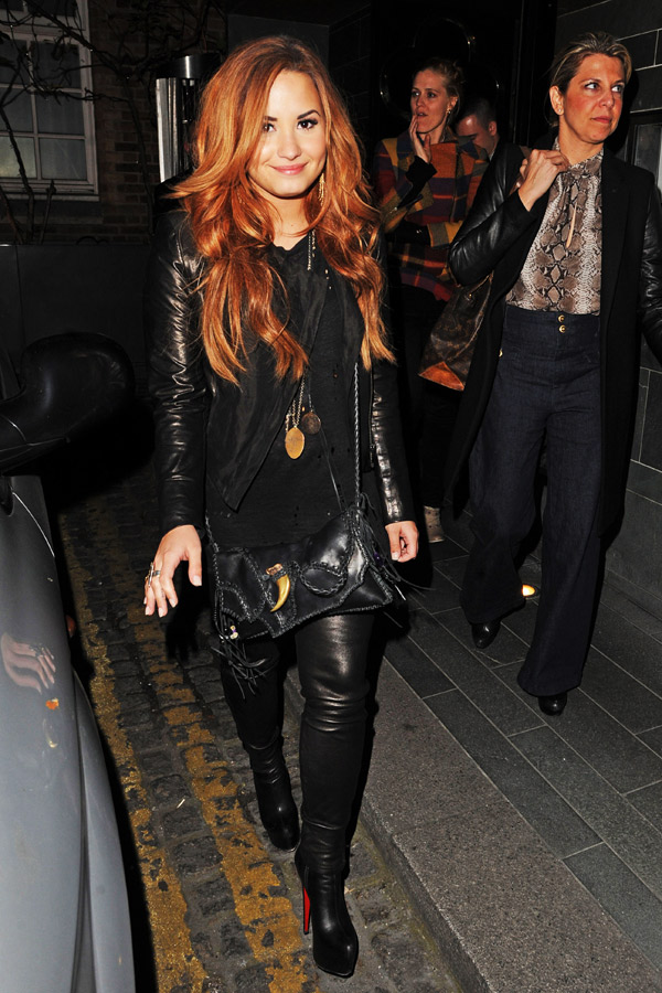 Demi Lovato at Hakasan Restaurant in London