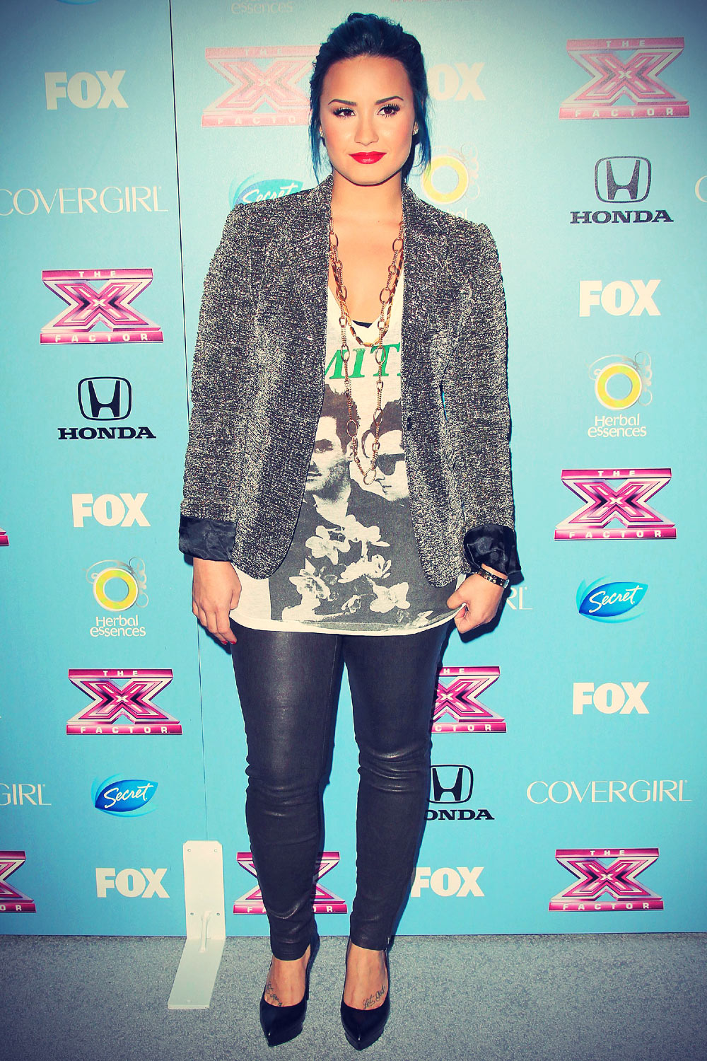 Demi Lovato at the X Factor Top 12 Party