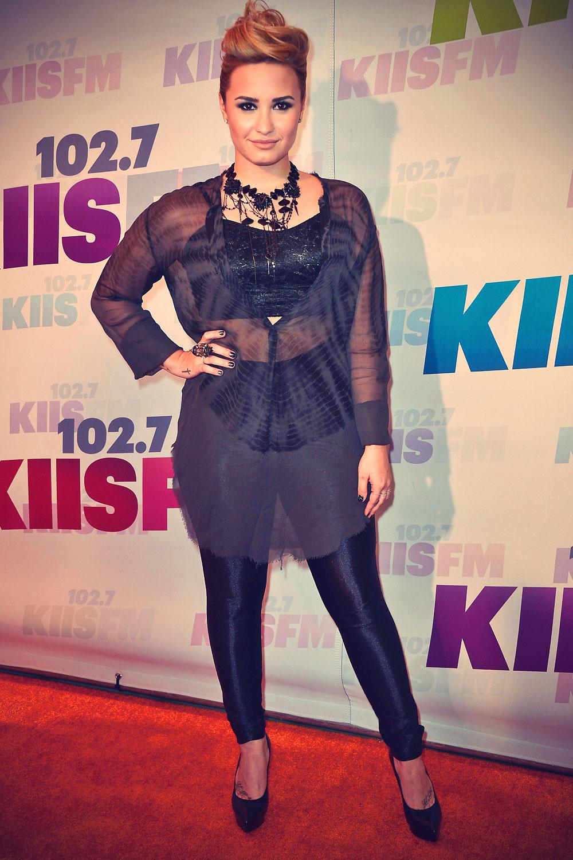Demi Lovato attends 1027 KIIS FM's Wango Tango