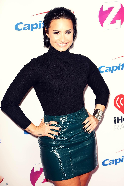 Demi Lovato attends Z100's Jingle Ball 2015