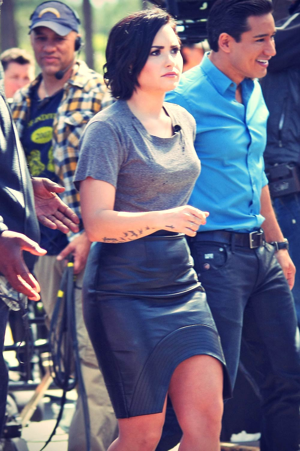 Demi Lovato on the Set of Extra
