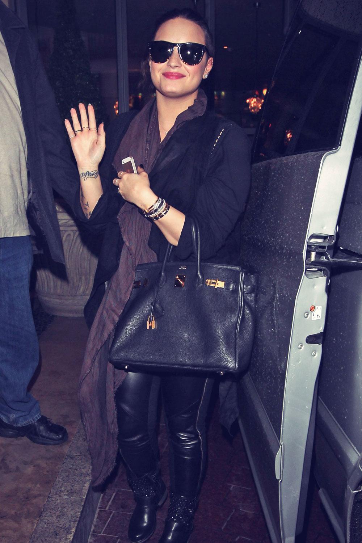 Demi Lovato out in London