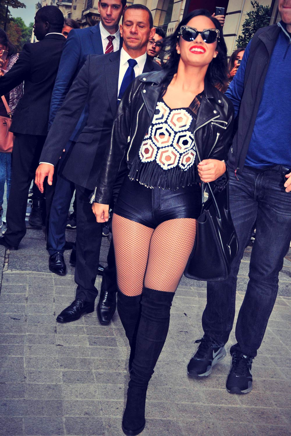 Demi Lovato out in Paris