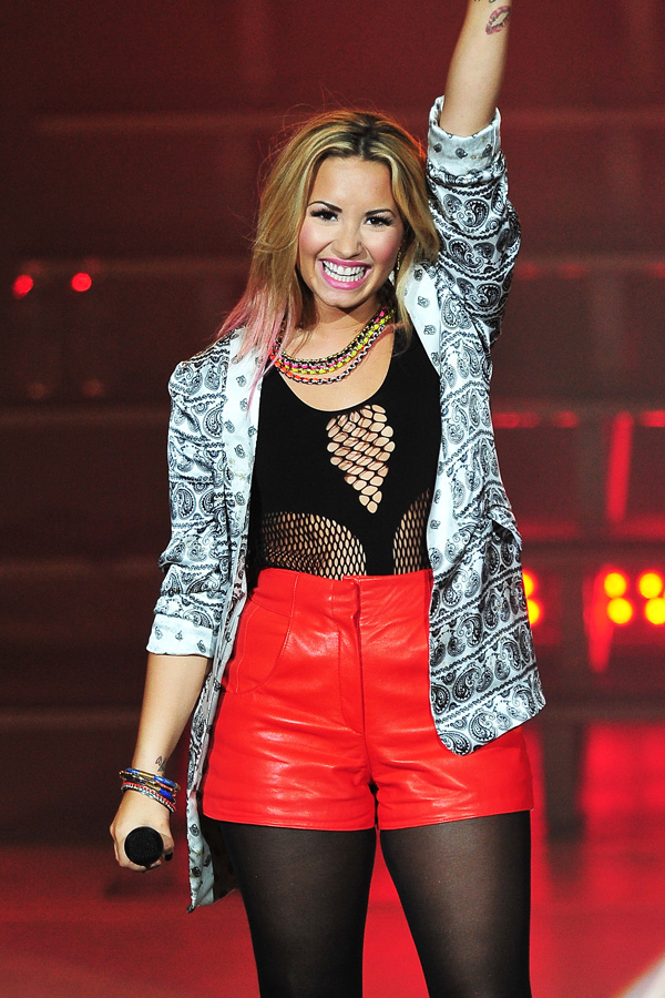 Demi Lovato performs at the PNC Bank Arts Center