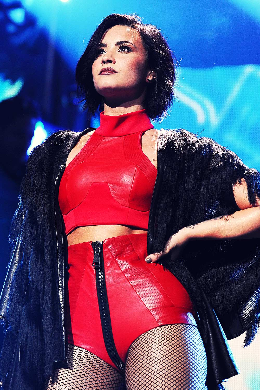 Demi Lovato performs at the iHeart Radio Jingle Ball