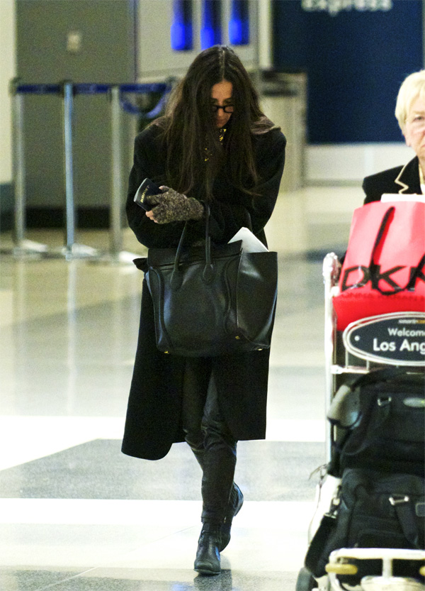 Demi Moore at LAX Airport in LA