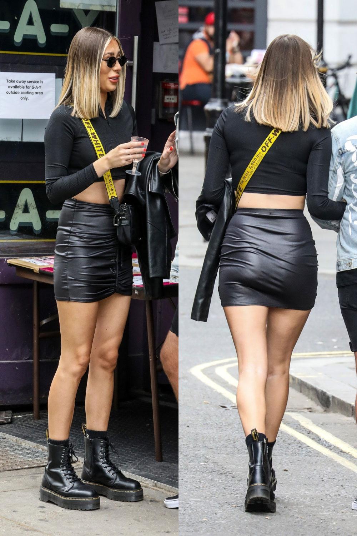 Demi Sims seen at Soho Square