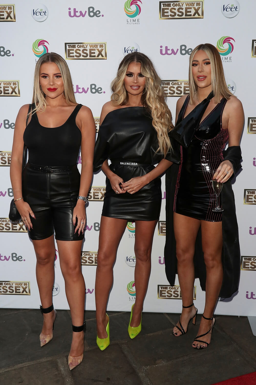 Demi Sims, Chloe Sims & Georgia Kousoulou attend The Only Way Is Essex' TV show press night