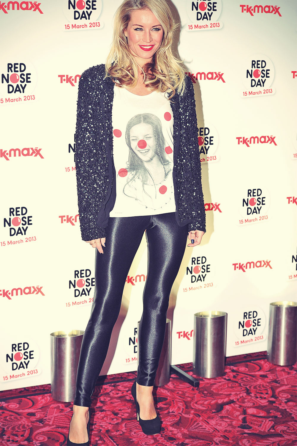 Denise Van Outen Red Nose Day Party LDN