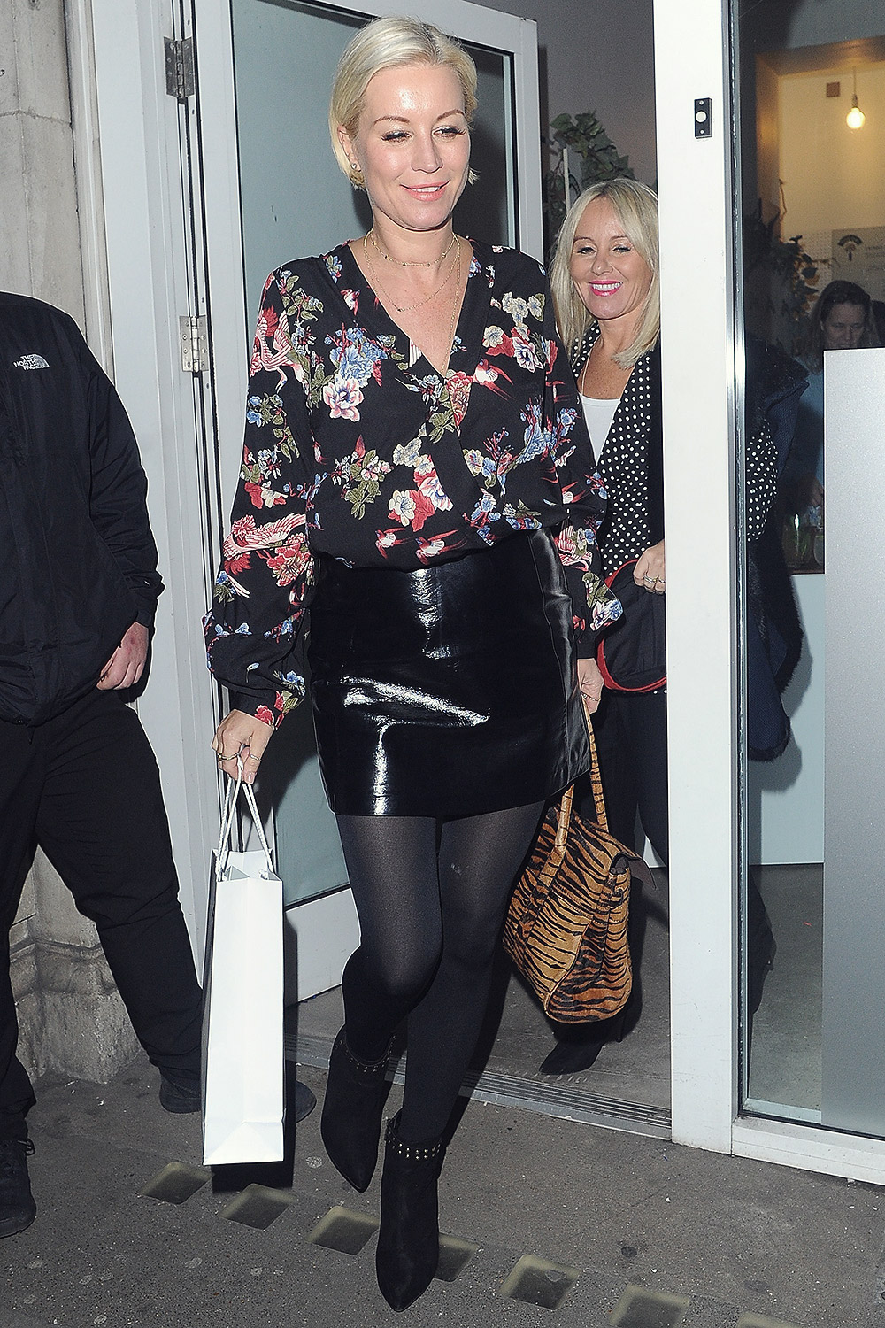 Denise Van Outen arriving at Hello Love Robinsons event