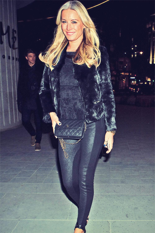 Denise van Outen attends London Fashion Week