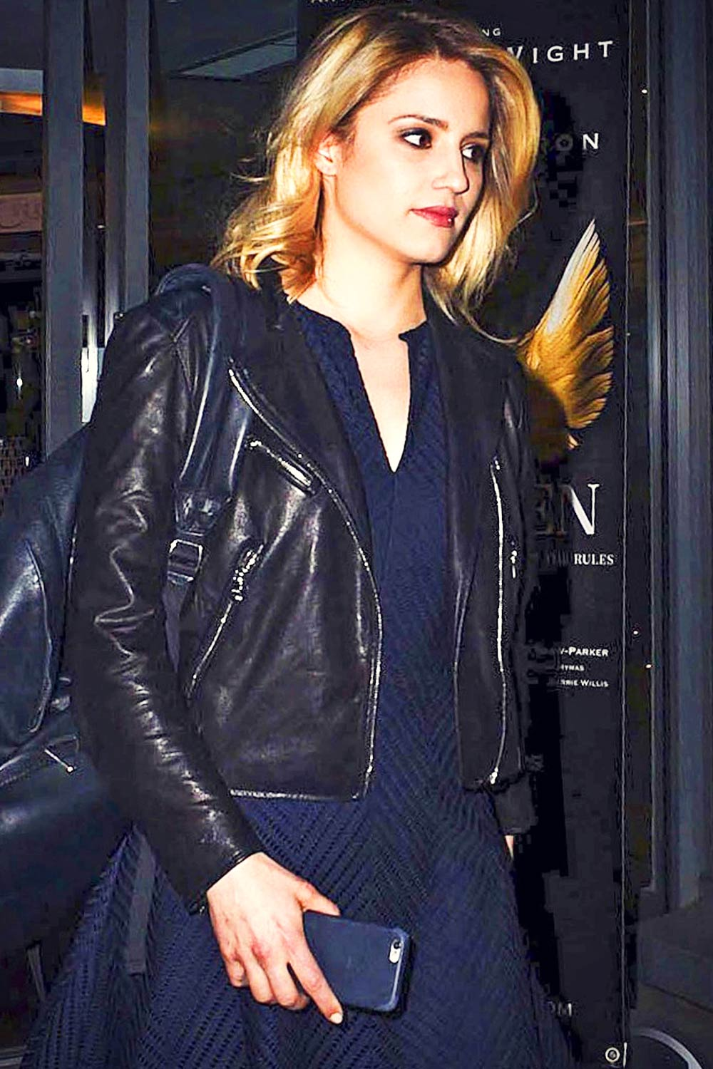 Dianna Agron leaving the St. James Theatre
