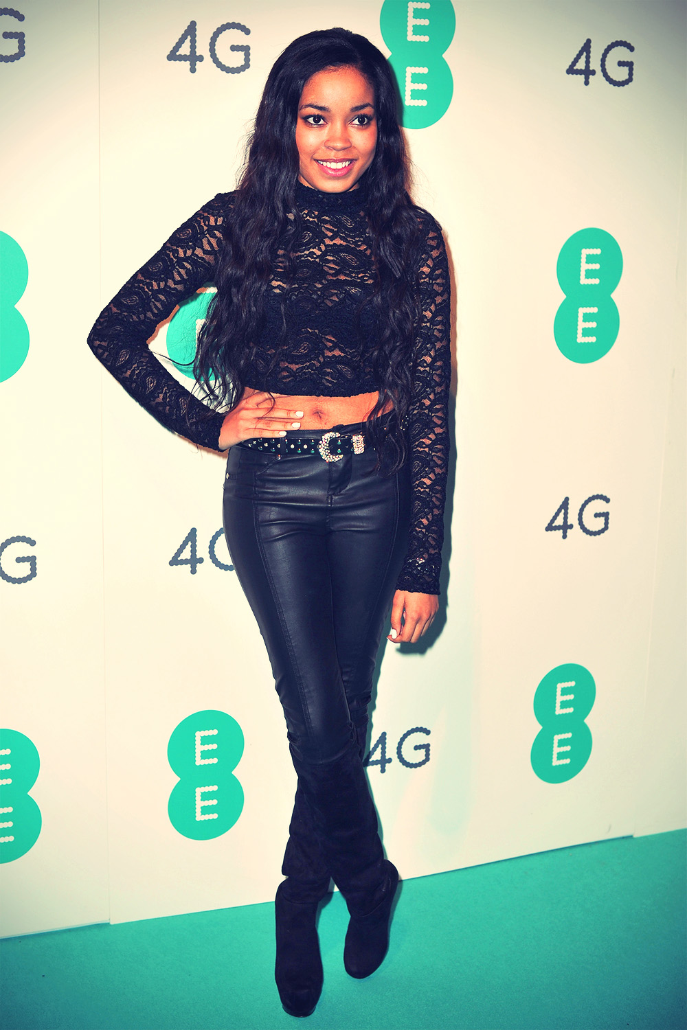 Dionne Bromfield attends the launch of EE