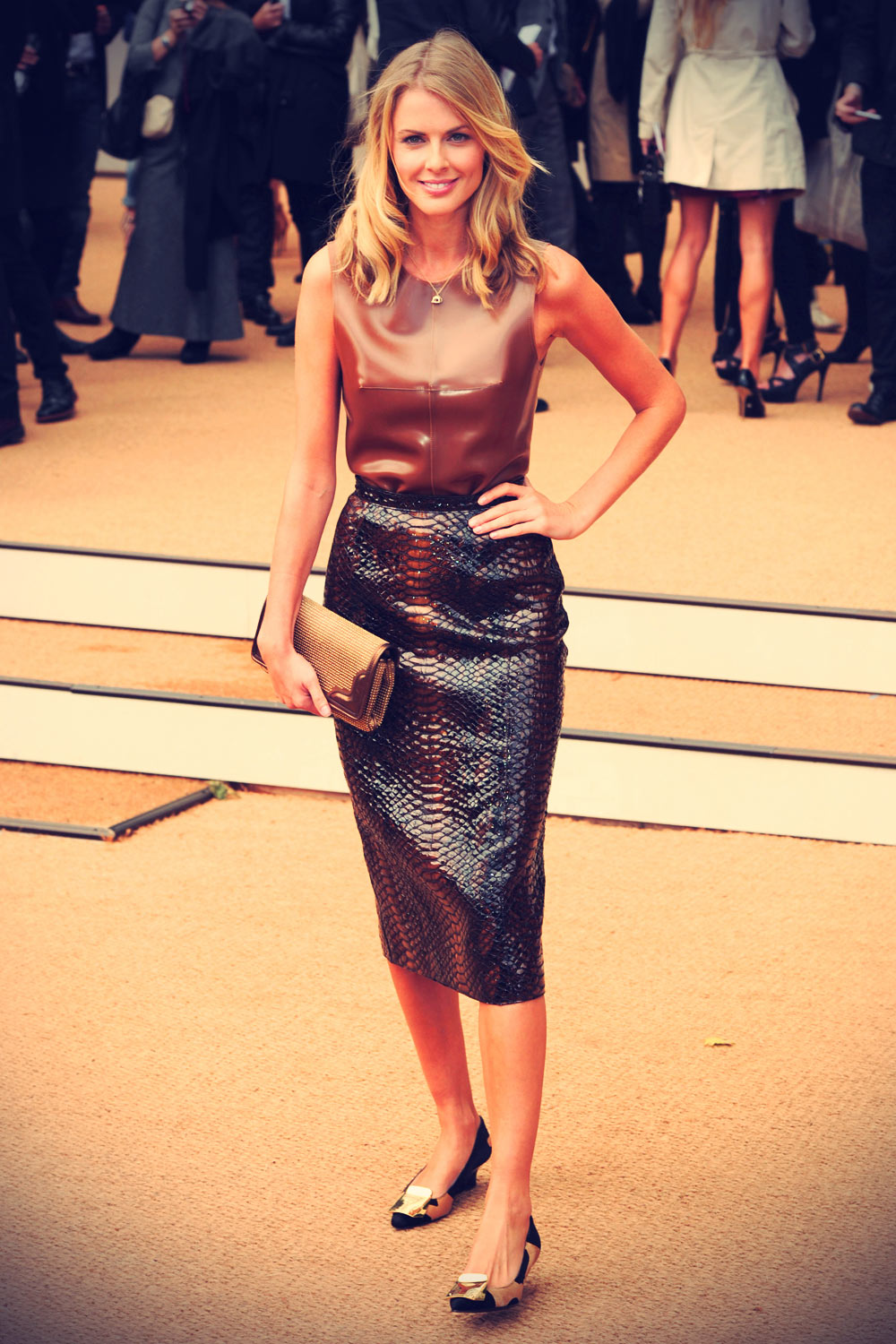 Donna Air attends Burberry Prorsum show during LFW SS14