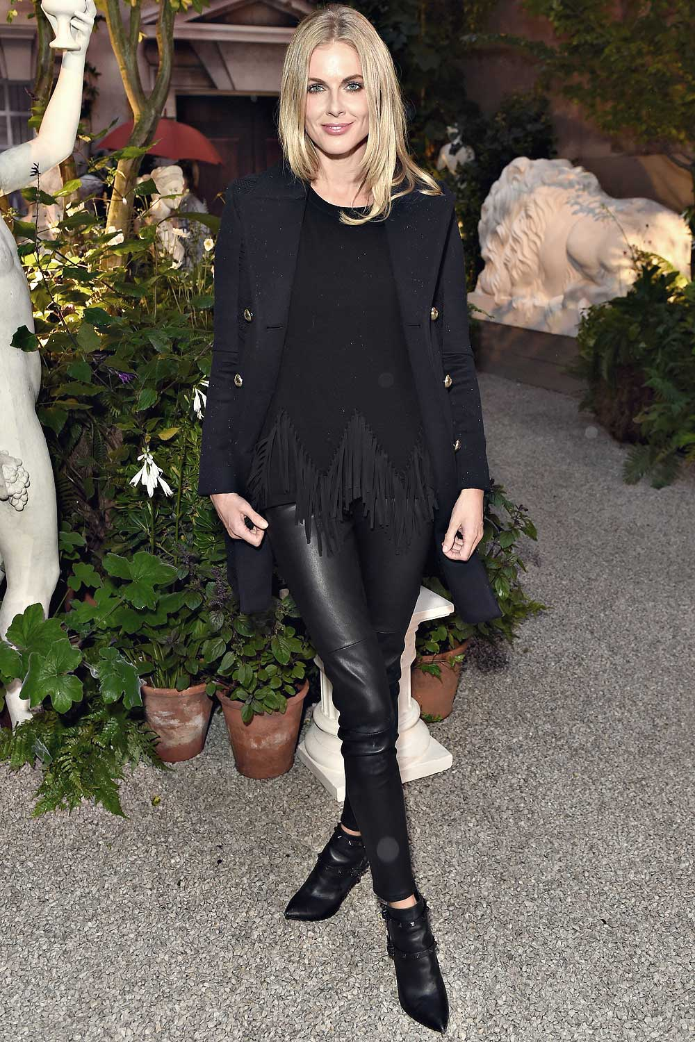 Donna Air Attends The Burberry Show Leather Celebrities