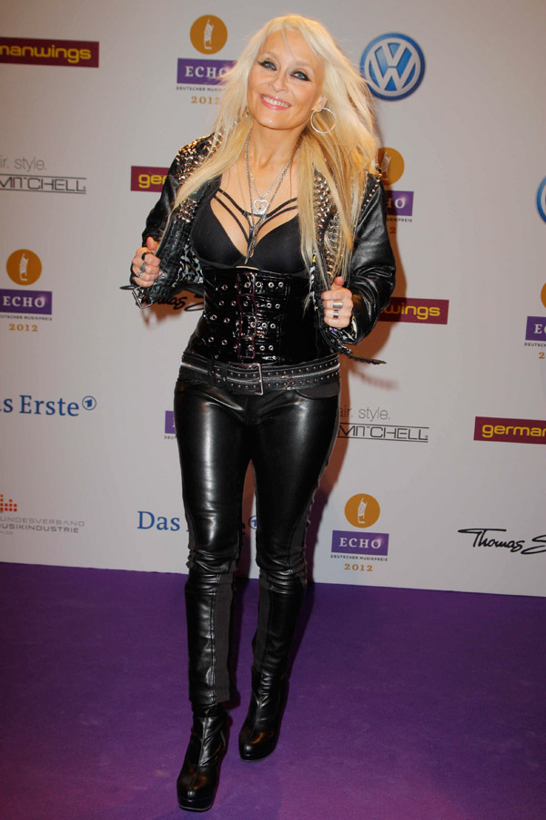Doro Pesch  at Verleihung des ECHO 2012 in Berlin