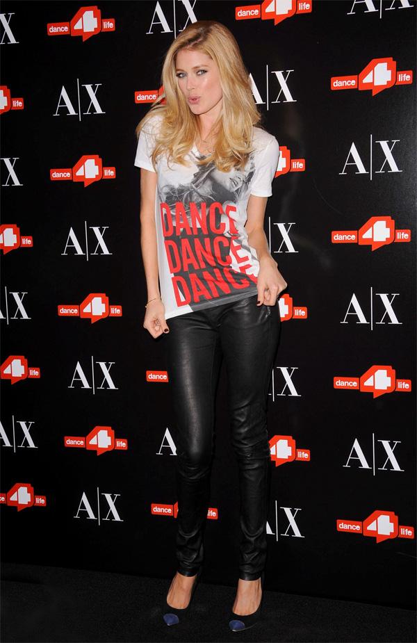 Doutzen Kroes unveils The A X Armani Exchange Dance4life T-Shirt