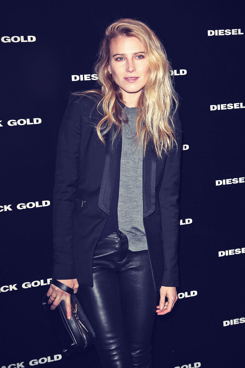 Dree Hemingway attends Diesel Black Gold Fashion Show