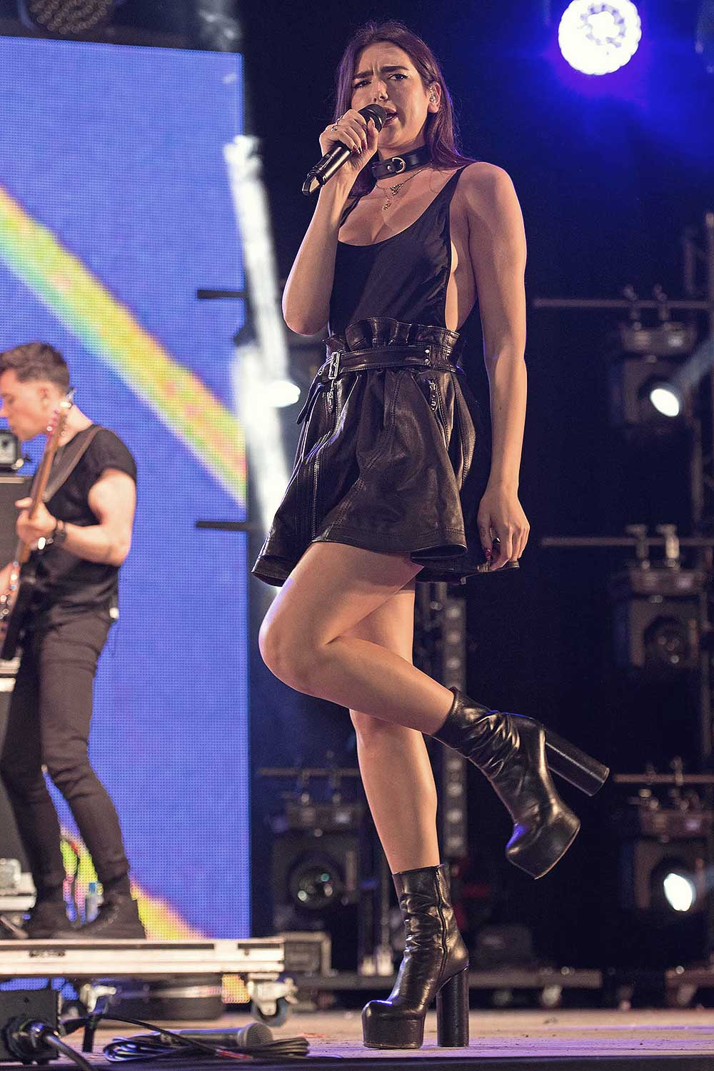 Dua Lipa Performs At The Wireless Festival Leather