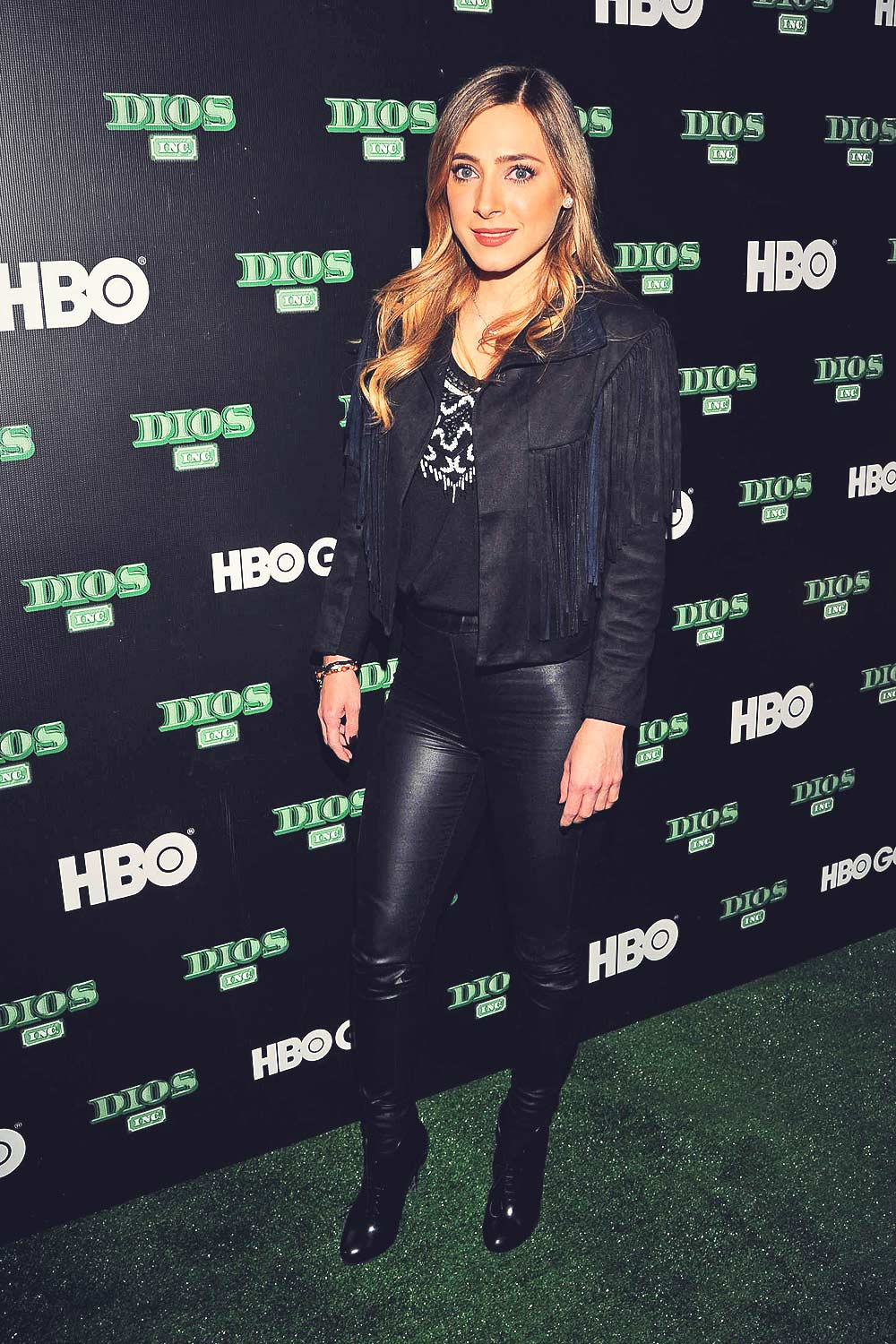 Edna Monroy poses during the red carpet of the new HBO's tv series 'Dios Inc'