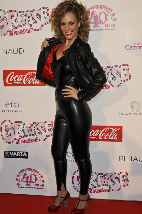 Edurne at Grease musical premiere in Madrid