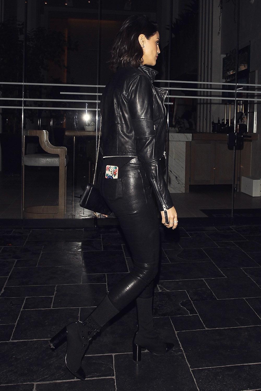 Eiza Gonzalez is seen arriving at Leonardo DiCaprio's birthday party