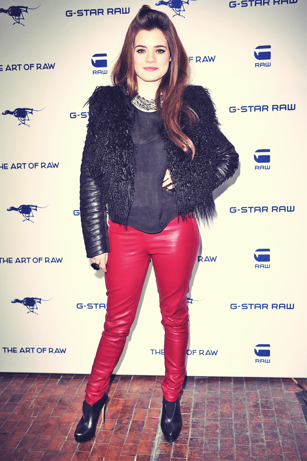 Elisa Schmidt attends Mercedes-Benz Fashion Week