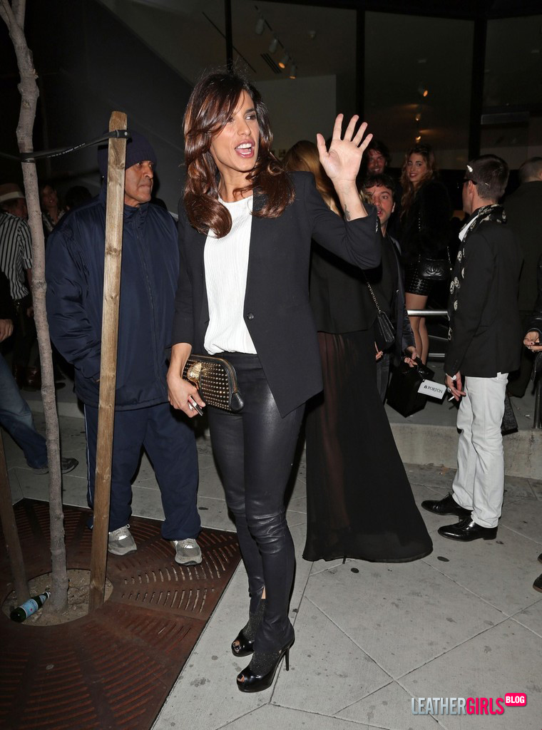 Elisabetta Canalis seen leaving from the Marc Tetro Art Gallery Event